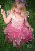 Child Pink Rose Fairy Dress
