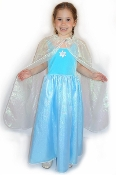 Frozen Elsa Dress, Frozen Enchanting Dress, Glittery Snowflake Sparkle, Icy Blue, Frost White, Frozen Cape, Elsa Cloak